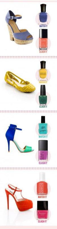 Летние цвета лаков и туфлей