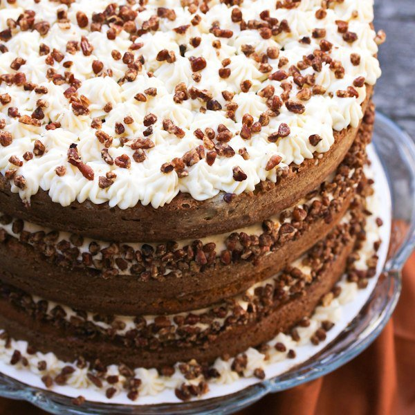 Тыквенный торт с медовой глазурью