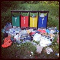 Раздельный выброс мусора в России