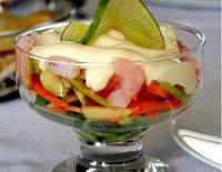 Порционный салат «Коктейль из креветок»