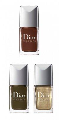 Dior: лаки цвета хаки