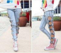 Оригинальные джинсы для летней прогулки