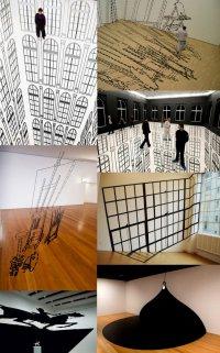 Regina Silveira и оптические иллюзии