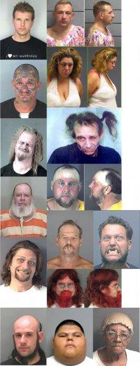 Лучшие фотографии арестованных в США. Часть 2