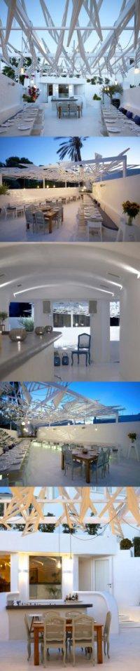 Белоснежный ресторан в Греции