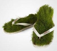 Шлепанцы с травой