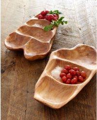 Деревянная тарелка для подачи овощей и фруктов