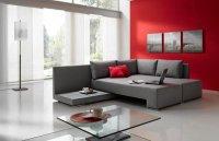 Сочетание серого и красного в интерьере