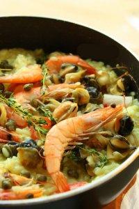 Обед: ризотто с морепродуктами