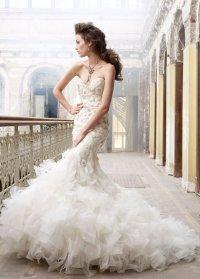 Свадебное платье «русалка» от Lazaro