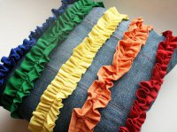 Декоративная подушка своими руками из старых джинсов