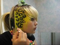 Как сделать леопардовый принт на волосах?