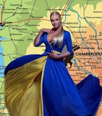 Анастасия Волочкова надела на себя флаг Украины
