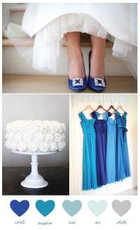 Синяя свадебная палитра