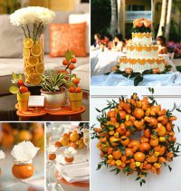 Тематическая свадьба: апельсины