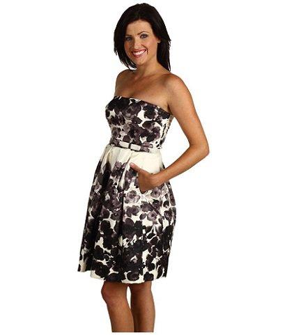 Свадьба в черно-белом стиле: платье подружки невесты