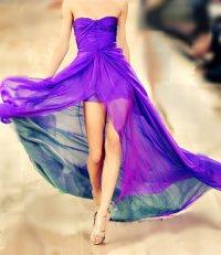 Воздушное платье ярко-фиолетового цвета