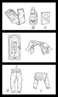 Как стирать джинсы из сухого денима?