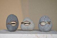 Японские скульптуры в виде камней