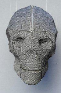 Оригинальная мужская сумка: череп из твида