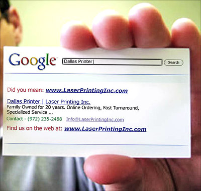 Визитка: Google знает все