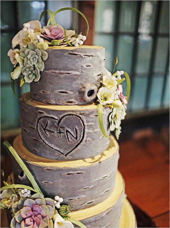 Свадебный торт в стиле эко