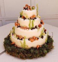 «Лесной» свадебный торт