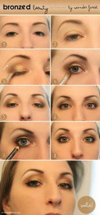 Красивый бронзовый макияж