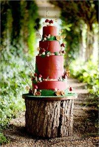 Свадебный торт с мухоморами
