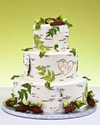 Свадебный торт «Березовая кора»