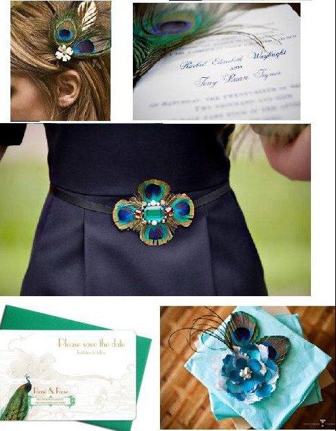 Как можно использовать перья павлина в свадебном декоре