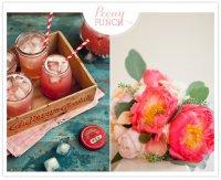 Напитки на свадьбу: пионовый пунш