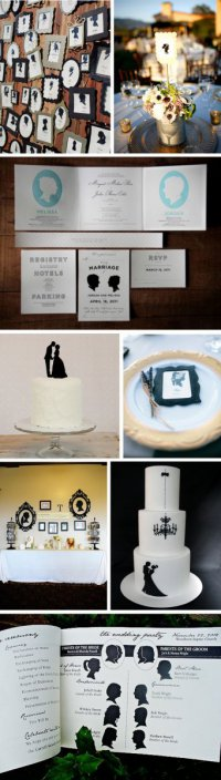Идеи для свадьбы: силуэты