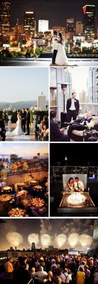 Идеи для свадеб: свадьба на крыше