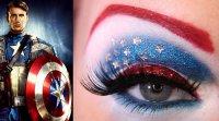 Макияж в стиле Мстителей: Капитан Америка