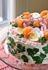 Рыбный торт «Смёргасторте»