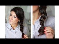 Простой способ заплести косу без резинки для волос