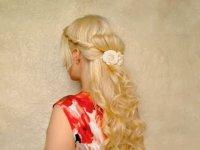 Красивая праздничная прическа своими руками на длинные волосы