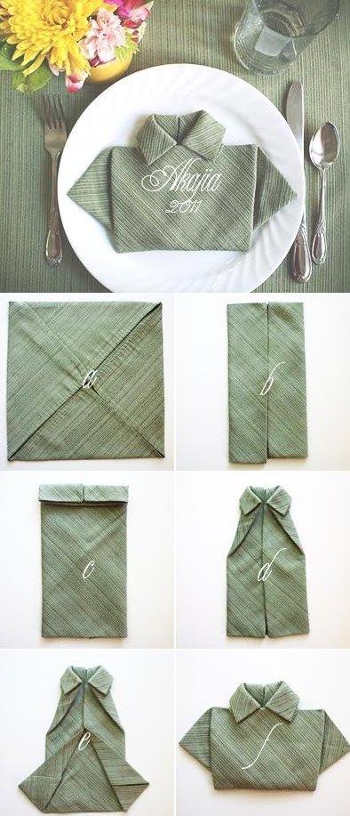 Оригинальный способ складывания салфеток