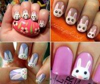 Маникюр с кроликами: прикольные идеи для росписи ногтей