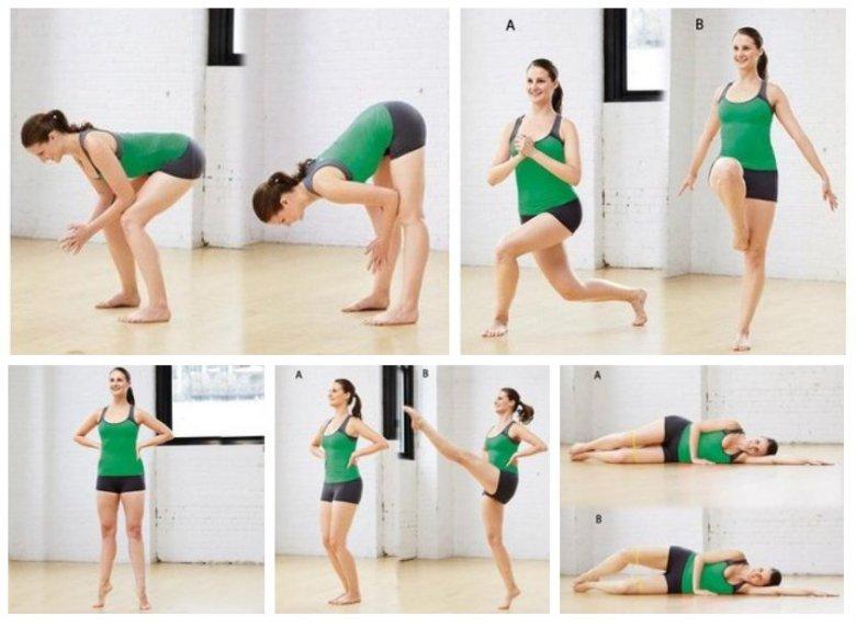 Упражнение на похудение ног