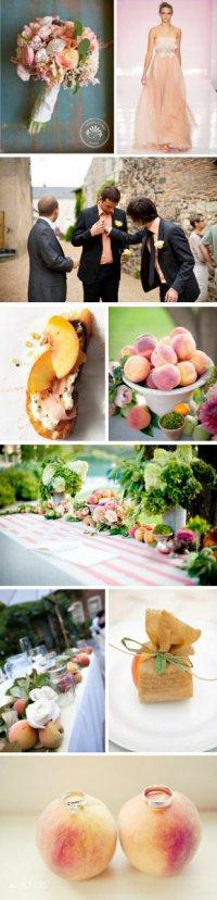 Стиль свадьбы: персики