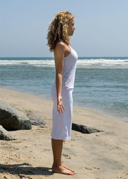 Асаны йоги: Тадасана (поза горы)