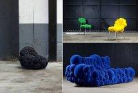 Креативная мебель из пузырей