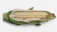 Брошь в виде початка кукурузы