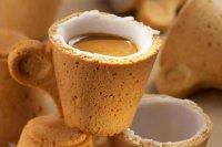Съедобная чашка кофе