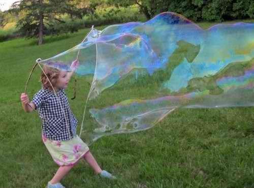 Большие мыльные пузыри своими руками