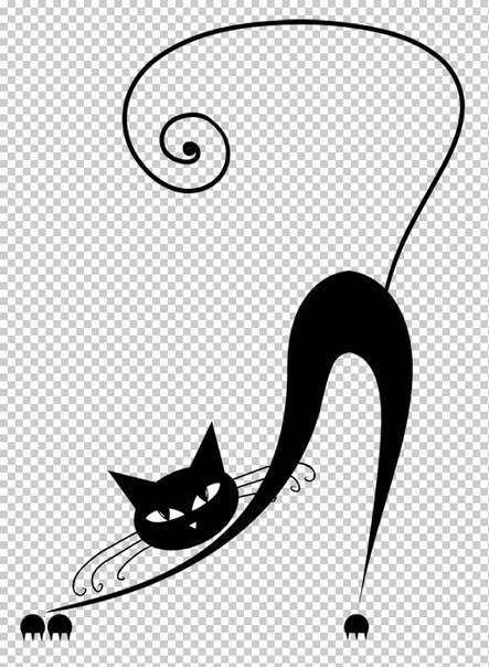 Трафарет кота для создания наклеек на стену