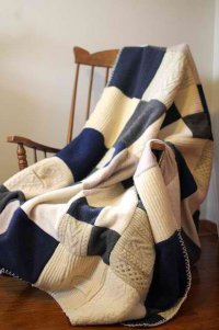 Плед своими руками из старых свитеров