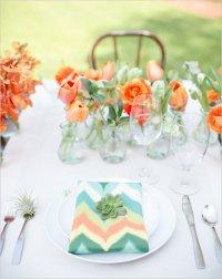 Свадебная сервировка стола с суккулентами